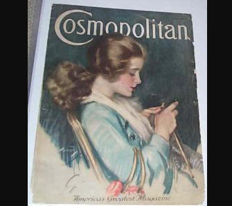 1918 Vintage Harrison Fisher Cosmopolitan magazine Art Cover Stitch A Prayer
