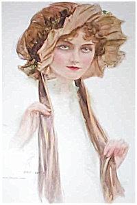 Vintage Victorian Lady Bedroom Print : Sleeping Bonnet