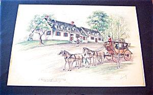 Colonial Colored Pencil Drawing Old Williamsburg Va