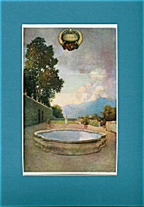 Vintage Art Maxfield Parrish Print Gardens Of Isola Bella Italy