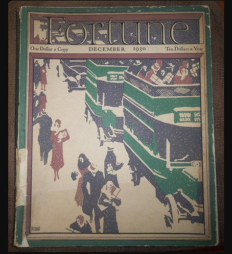 Vintage Fortune Magazine Christmas December 1930 Art Deco Era Ads