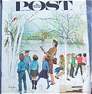 Saturday Evening Post 1962 School Children Bird Watching G. Hughs