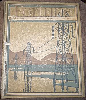 Vintage Fortune Magazine March 1936