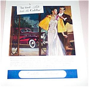 Art Deco Advertising: Cars: Cadillac Fleetwood Signed Ad