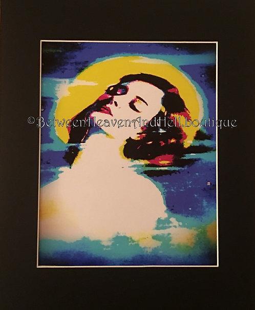 11x14 Full Moon Goddess Sexy Altered Art Deco Moonlight Woman Print BOHO Giclee