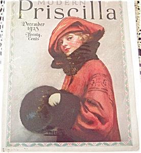Modern Priscilla Lady In Red Magazine Cover Art 1925