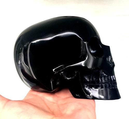 Large Mitchell-Hedges Skull Black Onyx Good Fortune Abundance Psychic Awakening