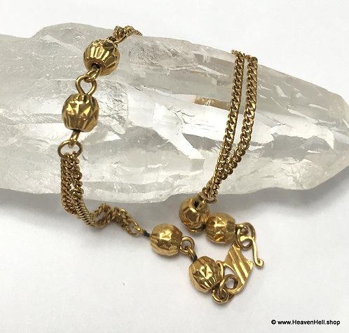 Antique French 22k Gold Bracelet, Vintage Solid Gold Jewelry, Edwardian Bracelet
