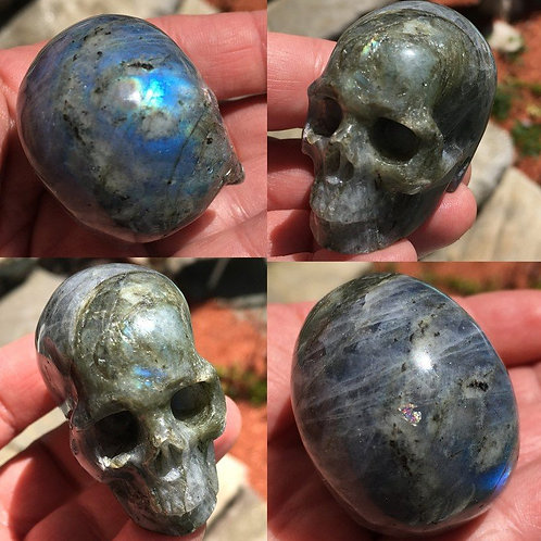 Activated Labradorite Crystal Skull Spiritual Realm Energy Transmitter
