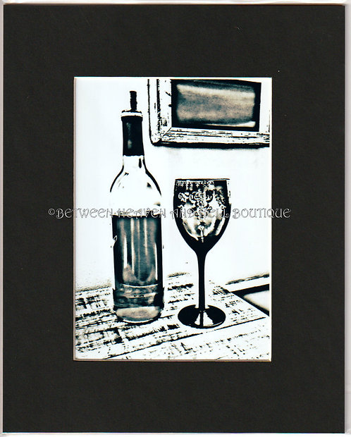 8x10 Giclee print Wine Art Looking for Love Boho Chic Artwork Shabby Decor