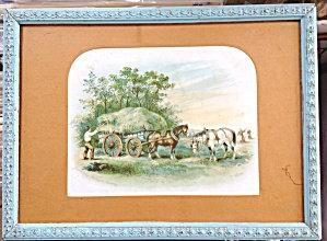Vintage Farm & Country Prints: Harvesting Abinger Surrey C. White
