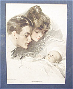Vintage Print: Harrison Fisher King Of Hearts_ Baby Parents