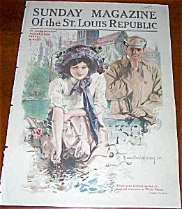 Howard Chandler Christy Iilustrated Sunday Magazine Cover 8/1910