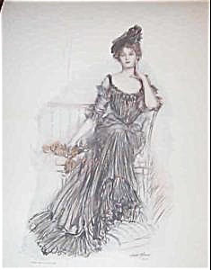 Albert Sterner Victorian Lady Print