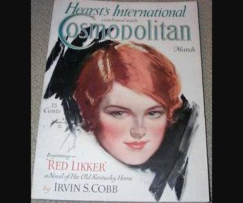 1929 Vintage Cosmopolitan Magazine Harrison Fisher cover Art, Ads, illustrations