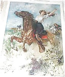 Print Western Girl, Horseback Riding, Wild West Hc Christy