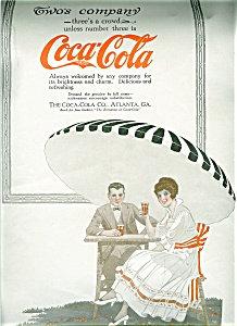Vintage Illustration Ad Print Coca Cola Spring Romance