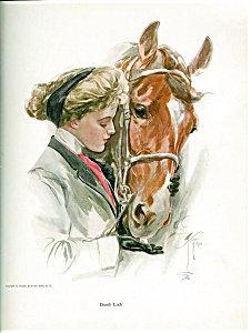 Lady Feeding Horse Antique Equestrian Art Prints: Harrison Fisher