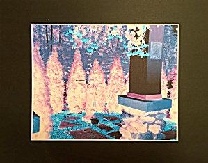 Spiritual Giclee Art Print Enchanted Healing Peace Garden Angel