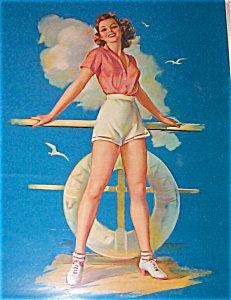 Vintage Pin-up Calendar Art Prints Jules Erbit Sea Worthy Sailing