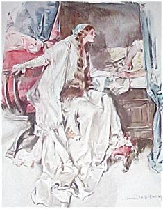 Hc Christy Art Print- Lovers-romance 1911