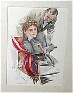 Art Print 1909: Harrison Fisher: Romance: Couples