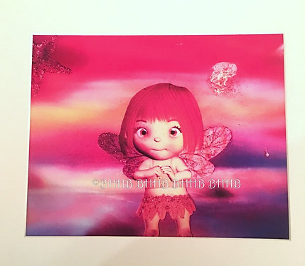 BOHO Sunset Beach Fairy Girld Decor Giclee Altered Art Print 11x14