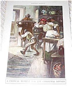 Antique Prints Illustrations: Em Ashe Christmas Dinner