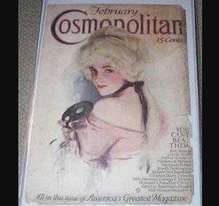 Vintage Harrison Fisher Cosmopolitan Magazine Art Cover Print Masquerade Ball