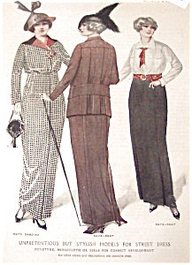 Antique & Vintage Prints Fashion Ads Hats Coats 1914