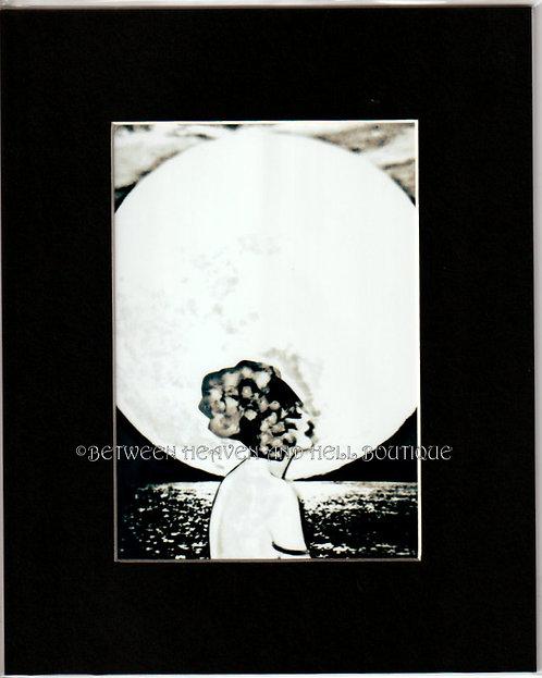 8x10 Giclee Art Print Midnight Moonlight Deco Lady Full Moon Goddess of Love