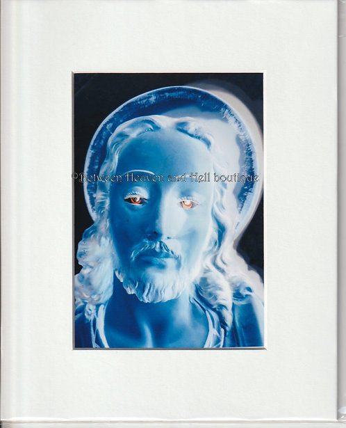 8x10 Altered Art Print Glowing Jesus Christ Spiritual Artwork Metaphysical Energ