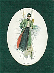 Vintage Cruise Ship Print Lady At Sea Harrison Fisher