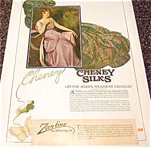 Vintage Ads & Illustrations: Cheney Silks: 1917