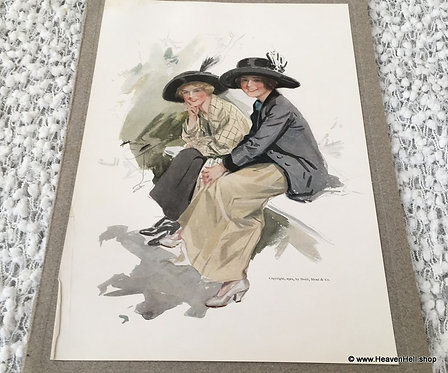 Original Vintage Harrison Fisher Print The Laugh Is On You: Friendship