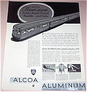Vintage Print Advertising Railroad Trains Alcoa Aluminum Ad
