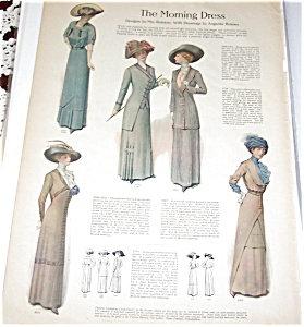 Antique & Vintage Prints Fashion Ads Victorian Ladies Dresses Hat
