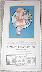 Vintage 1923 Art Calendar Little Boy Print