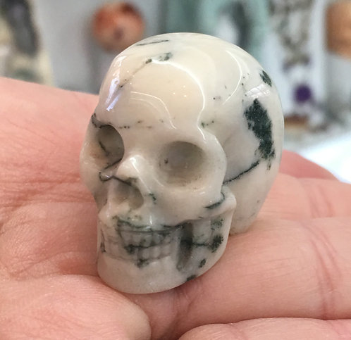 Abundance Skull Dendritic Tree Agate Prosperity New Beginnings Quartz Crystal
