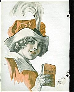 Vintage Prints: Monahan Victorian Lady Scrapbook Page