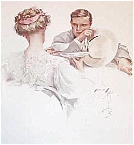 Antique Victorian Afternoon Tea Art Prints: Harrison Fisher