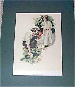 "Hc Christy Print ""water Lilies"" 1906"