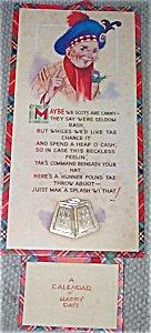 Vintage Art Calendar Scottish 1944 Prints Britian