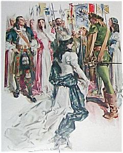 Hc Christy Art Print- Scottish Ceremony 1910, Knight, Princess