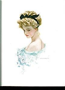 Harrison Fisher Print: Edwardian Lady: Beautiful Blonde