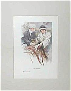 Vintage Harrison Fisher Prints: Proposal Wedding