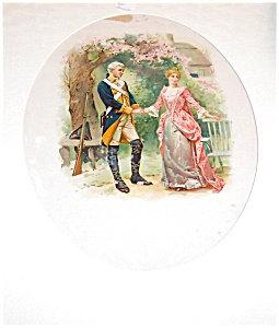 Vintage & Antique Prints> Colonial Print Garden Romance