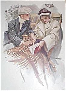 Vintage Harrison Fisher Print: Proposal: Wedding, Engagement