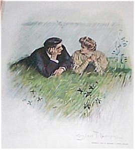 Antique Vintage Prints: Romance Cf Underwood 1906