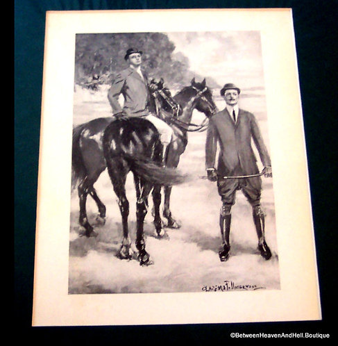 Early 1900's Equestrian Art Vintage Horse Riding Print, Clarence Underwood